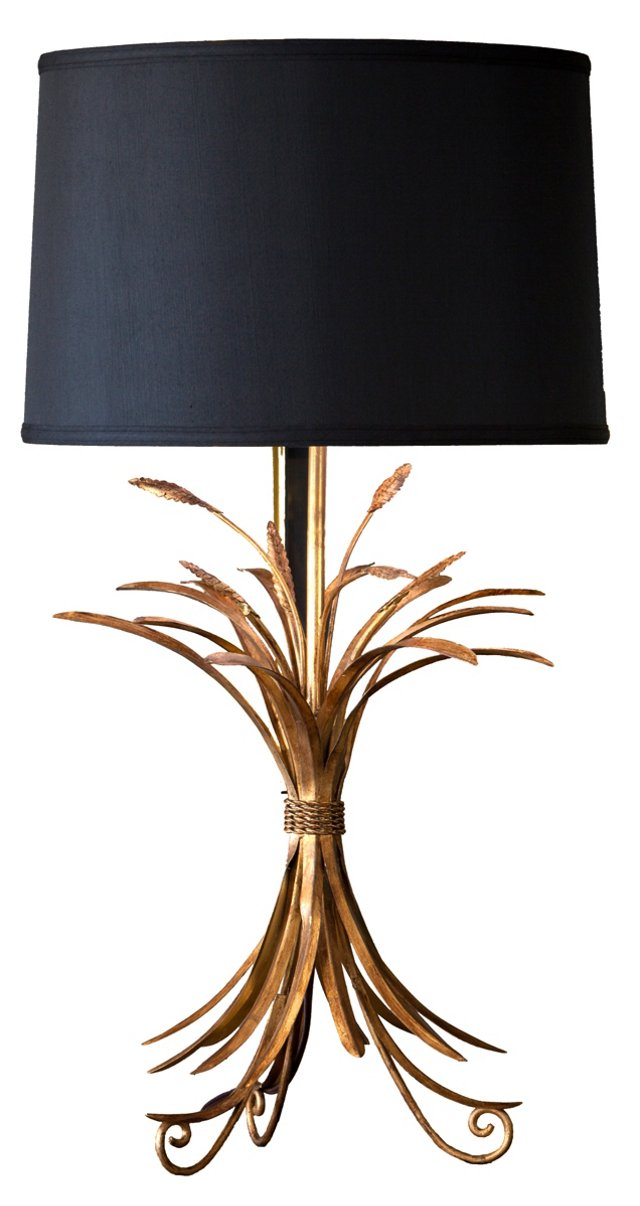 Stafford Table Lamp, Gold Wheat