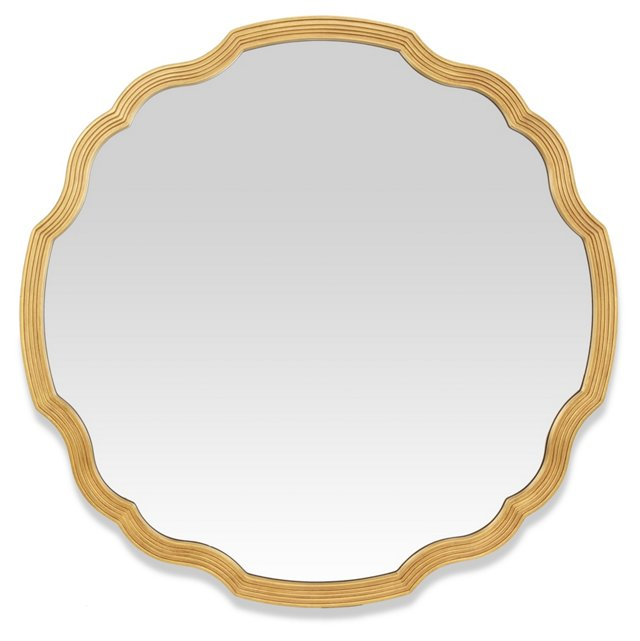 Chippendale Wall Mirror, Antiqued Gold