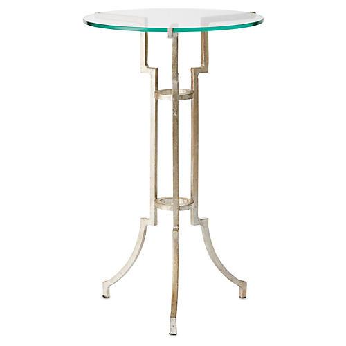 Glassgow Tripod Table, Antiqued Silver