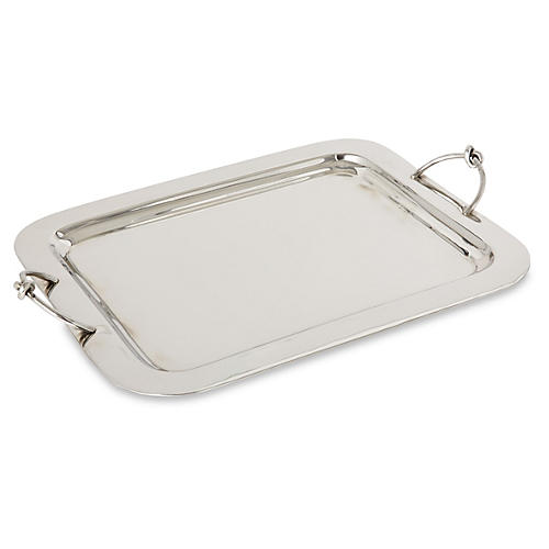 "18"" Nickel Knot Tray, Silver"