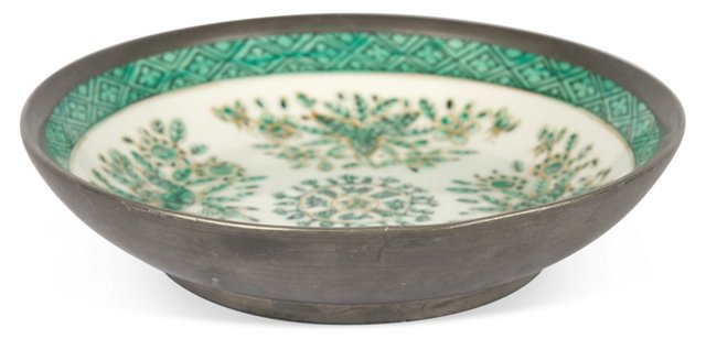 Green Chinoiserie Trinket Dish