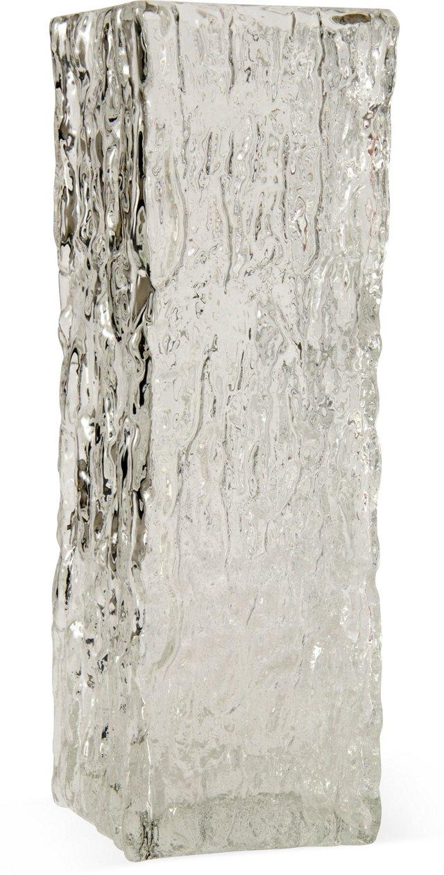 Italian Ice Glass Vase