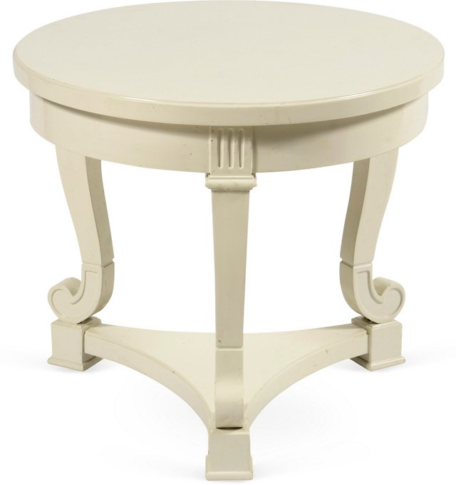 Neoclassical 3-Leg Wood Table