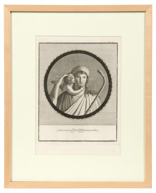 Framed Morell Engraving III