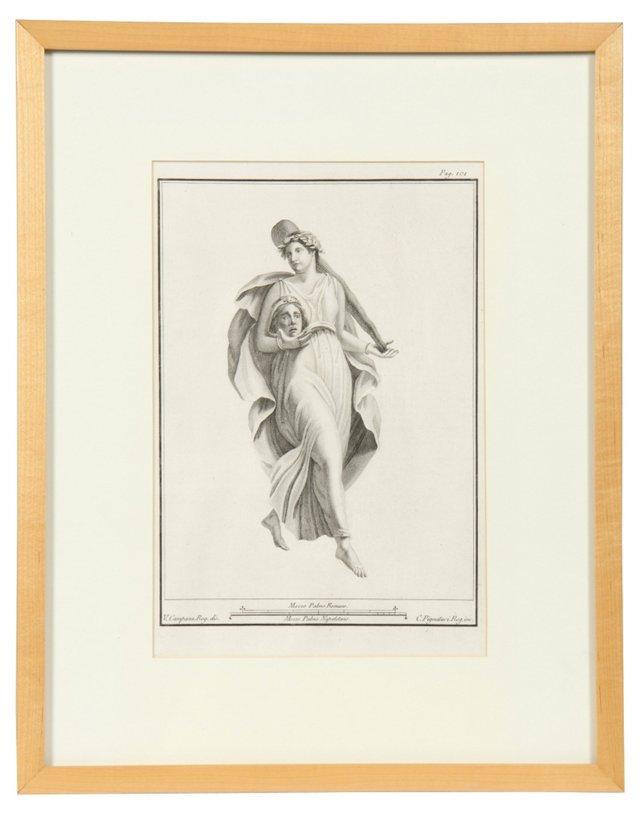 Framed Morell Engraving V