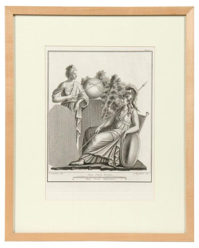Framed Morell Engraving VII