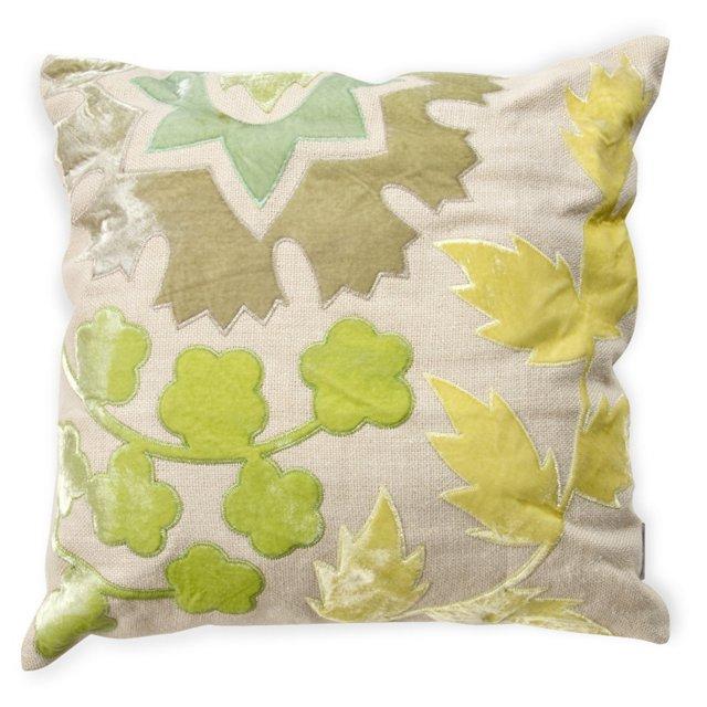 Embroidered Pillow w/ Velvet Back II