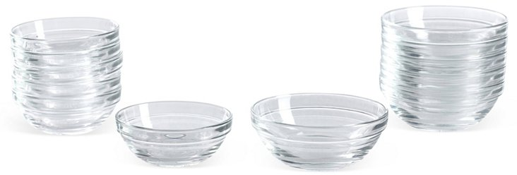 Asst. of 12 Prep Bowls, Clear