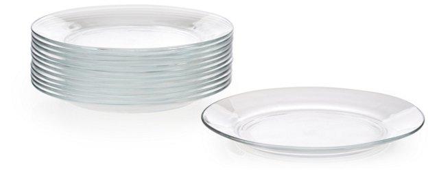 S/12 Lys Salad Plates