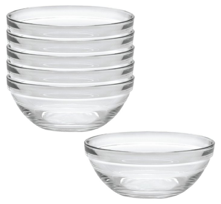 """S/6 Lys Stack Bowls, 12"""""""