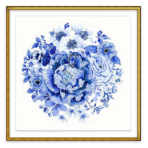 Gabby Malpas, Blue Round Floral II