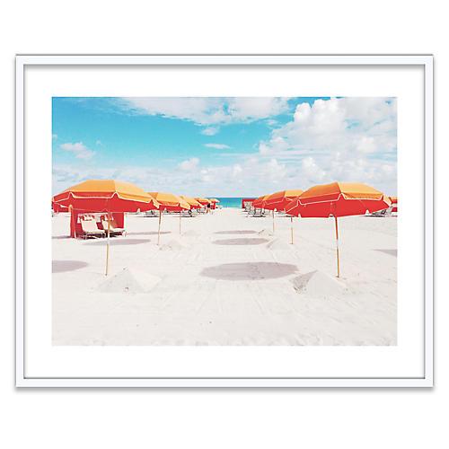 Orange Umbrellas, Natalie Obradovich