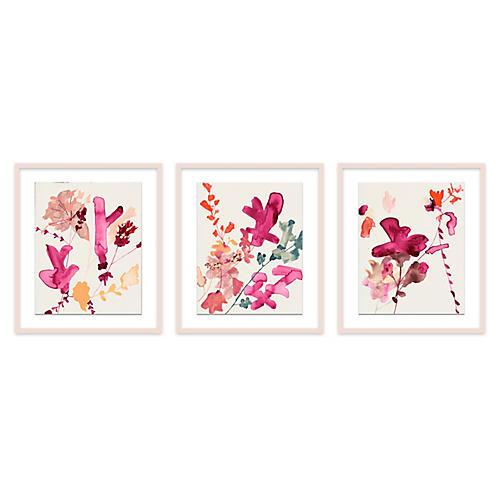 Pinks Triptych, Jen Garrido