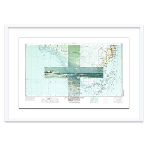 South Beach Map Christine Flynn Map, White