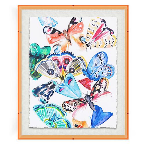 Hayley Mitchell, Butterflies I, Acrylic Frame