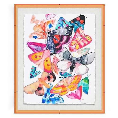Butterflies IV, Orange Acrylic Box
