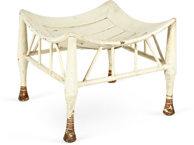 Late-19th-C. English Thebes Stool