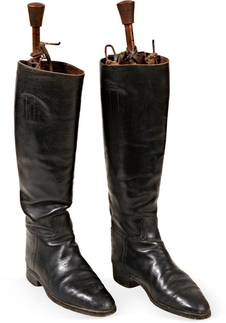 19th-C. English Riding Boots, Pair