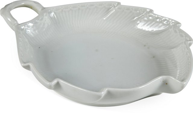 1940s Royal Copenhagen Leaf Dish