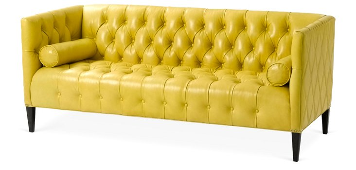 """Orianna 84"""" Leather Sofa"""