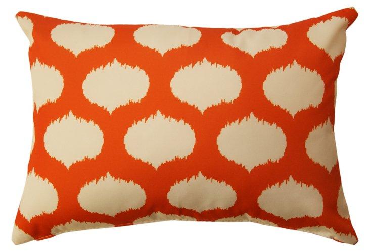 Ikat Circle 14x20 Outdoor Pillow, Orange
