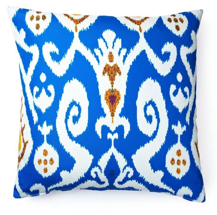 Ikat 20x20 Outdoor Pillow, Blue