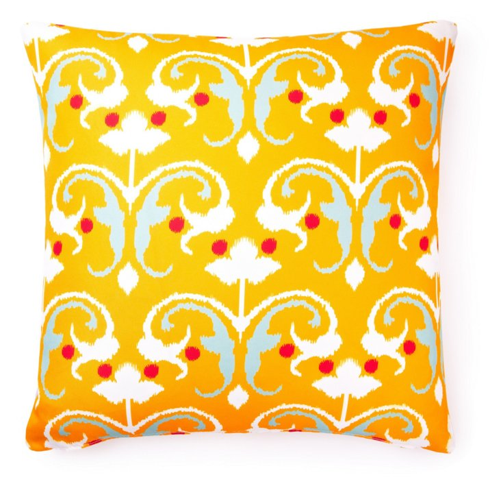 Reinvent 20x20 Outdoor Pillow, Yellow