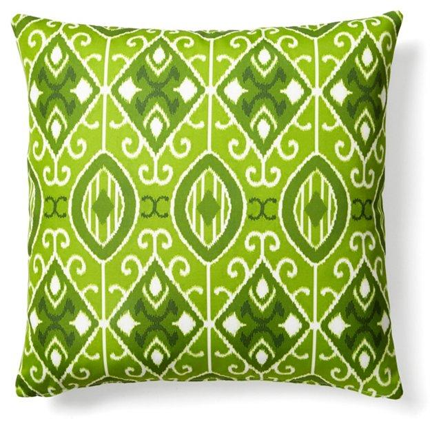 Eva 20x20 Outdoor Pillow, Green