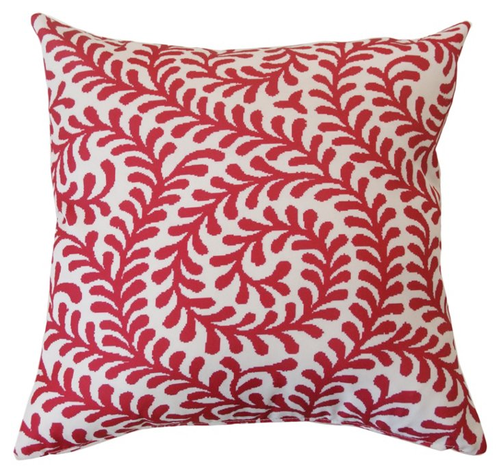 Swirl 20x20 Outdoor Pillow, Fuchsia