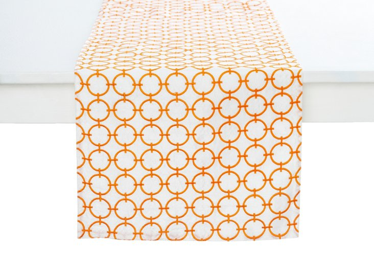 Geo Circles Runner, Orange