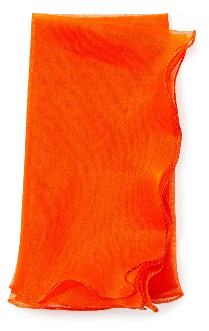 S/4 Wave Tissue Dinner Napkins, Orange