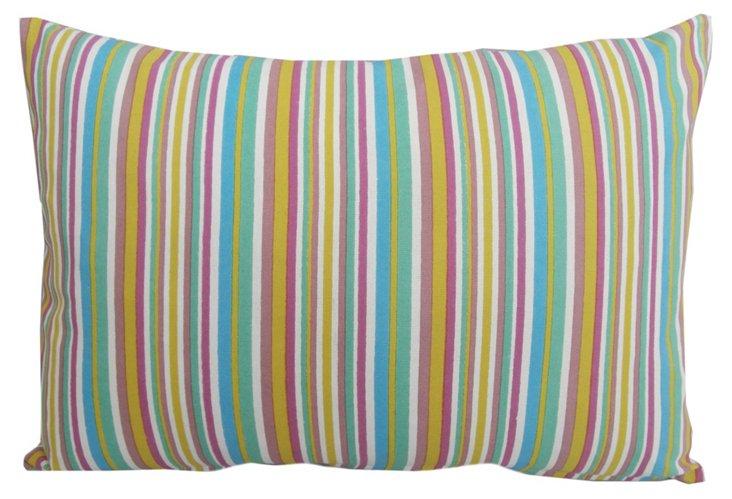 Striped 14x20 Cotton Pillow, Multi