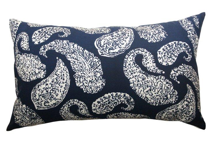 Petit Paisley 14x20 Pillow, Blue