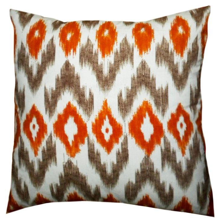 Iconic 18x18 Cotton Pillow, Orange