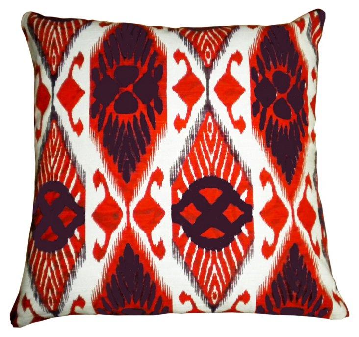 Eastern 18x18 Cotton Pillow, Orange