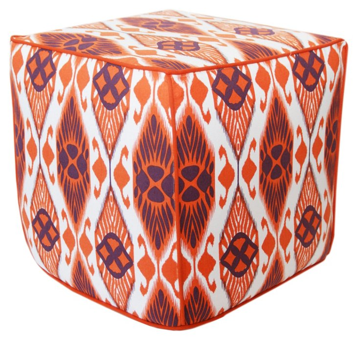 Casablanca Pouf, Orange/Purple