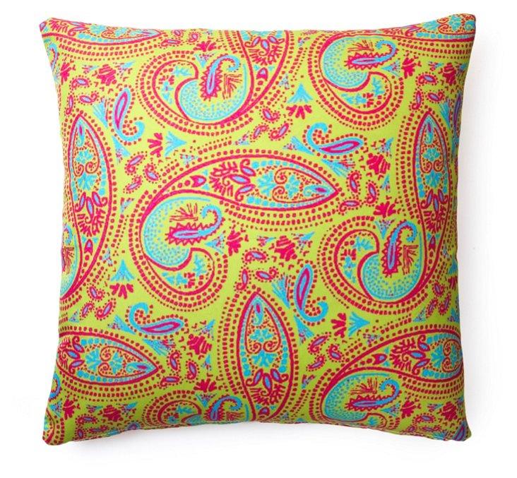 Paisley 20x20 Outdoor Pillow, Green