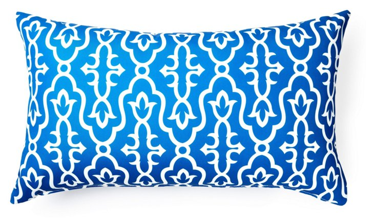 Moroccan 14x24 Outdoor Pillow, Blue