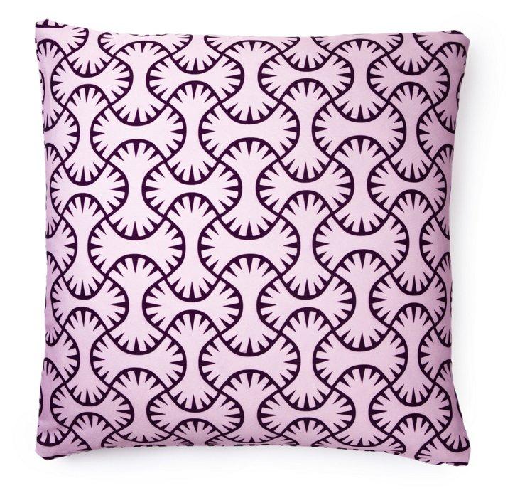 Maze 20x20 Outdoor Pillow, Lilac