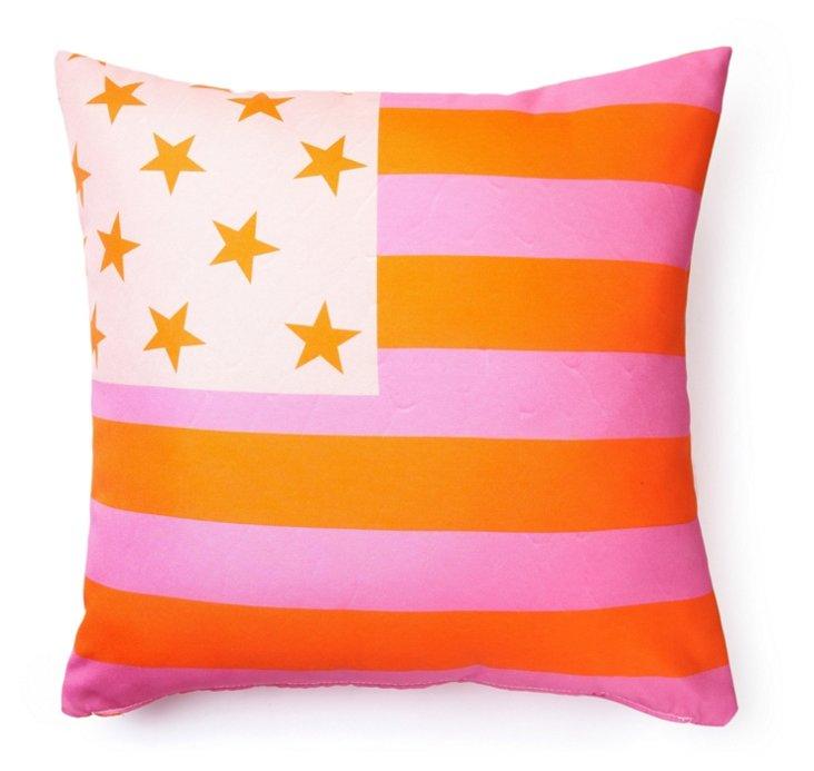Flag 20x20 Outdoor Pillow, Orange
