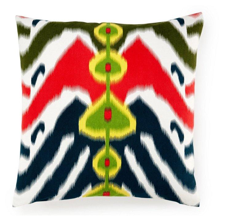 Tribal Ikat 20x20 Cotton Pillow, Multi