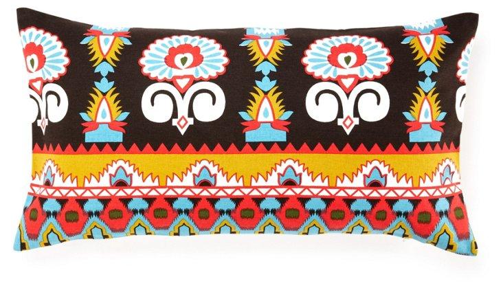 Temple 14x24 Cotton Pillow, Multi