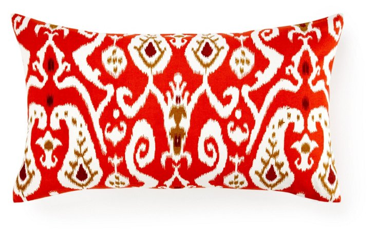 Ikat 14x24 Pillow, Orange