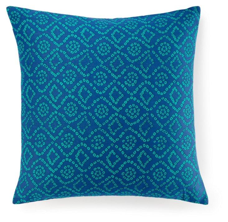 Ice 20x20 Cotton Pillow, Blue
