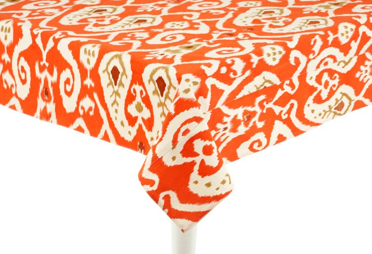 Ikat Tablecloth, Orange