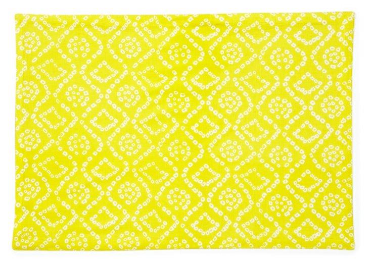 S/6 Bandini Place Mats, Yellow
