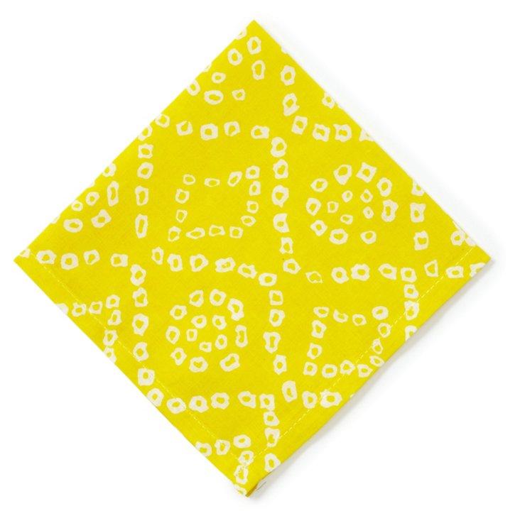 S/4 Bandini Cocktail Napkins, Yellow