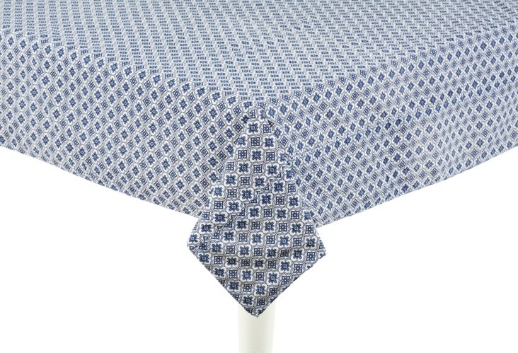 "Mosaic Tablecloth, Blue 50"" x 50"""