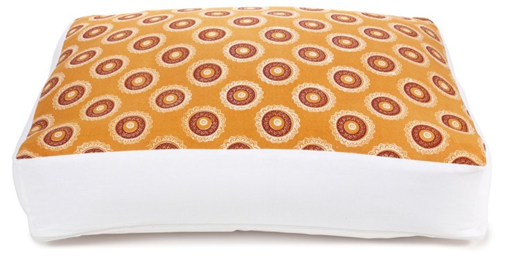 Medallion Circles Dog Bed, Brown