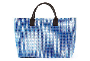 Structured Market Tote, Blue Sara